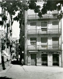 Foto antigua Librería Moisés - Barbastro 002